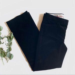 BR | SLOAN | velvet black dress pants slacks 10